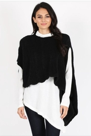 Mazzarelli Asymetrical Sweater Top - Product Mini Image