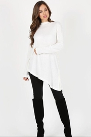 Mazzarelli Asymetrical Tunic Top - Front cropped