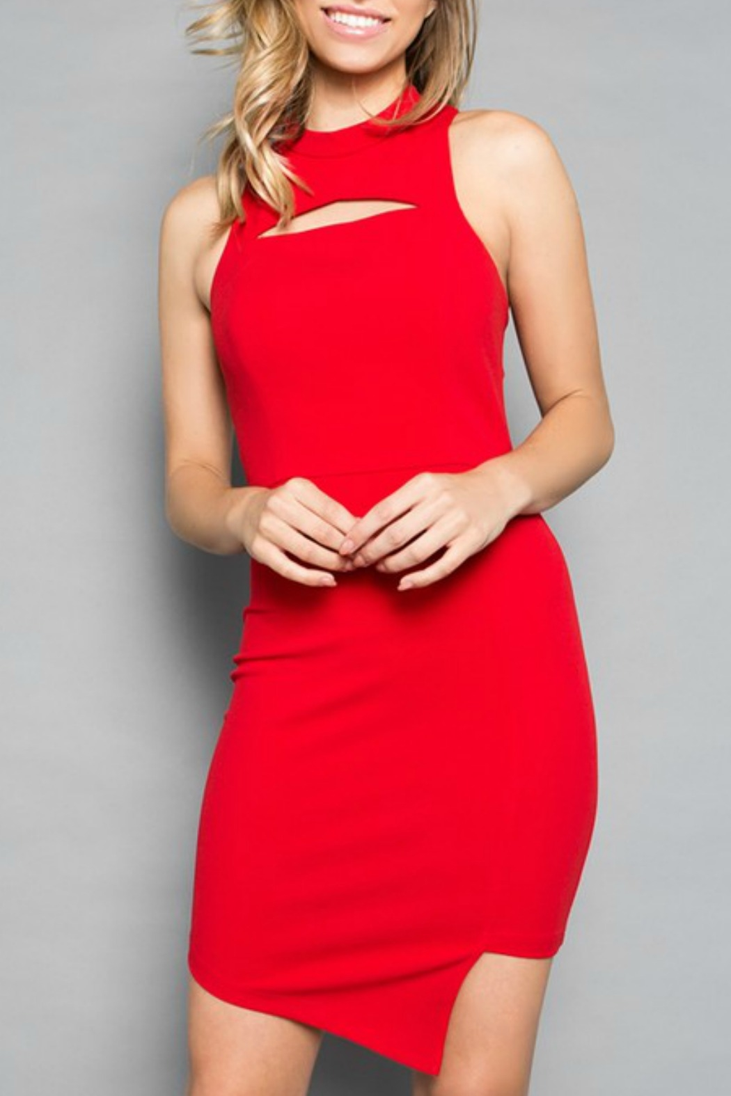 Minuet Asymmetric Cocktail Dress - Front Cropped Image