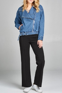 Active Basic Asymmetric Denim Jacket - Alternate List Image