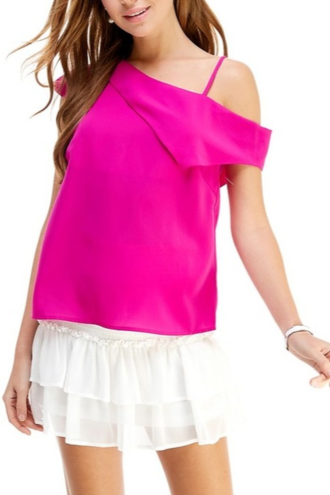 TCEC Asymmetric Drape Back Top - Front Cropped Image