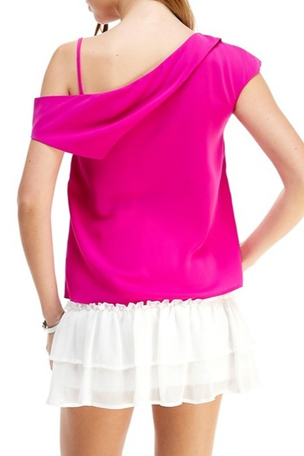 TCEC Asymmetric Drape Back Top - Side Cropped Image
