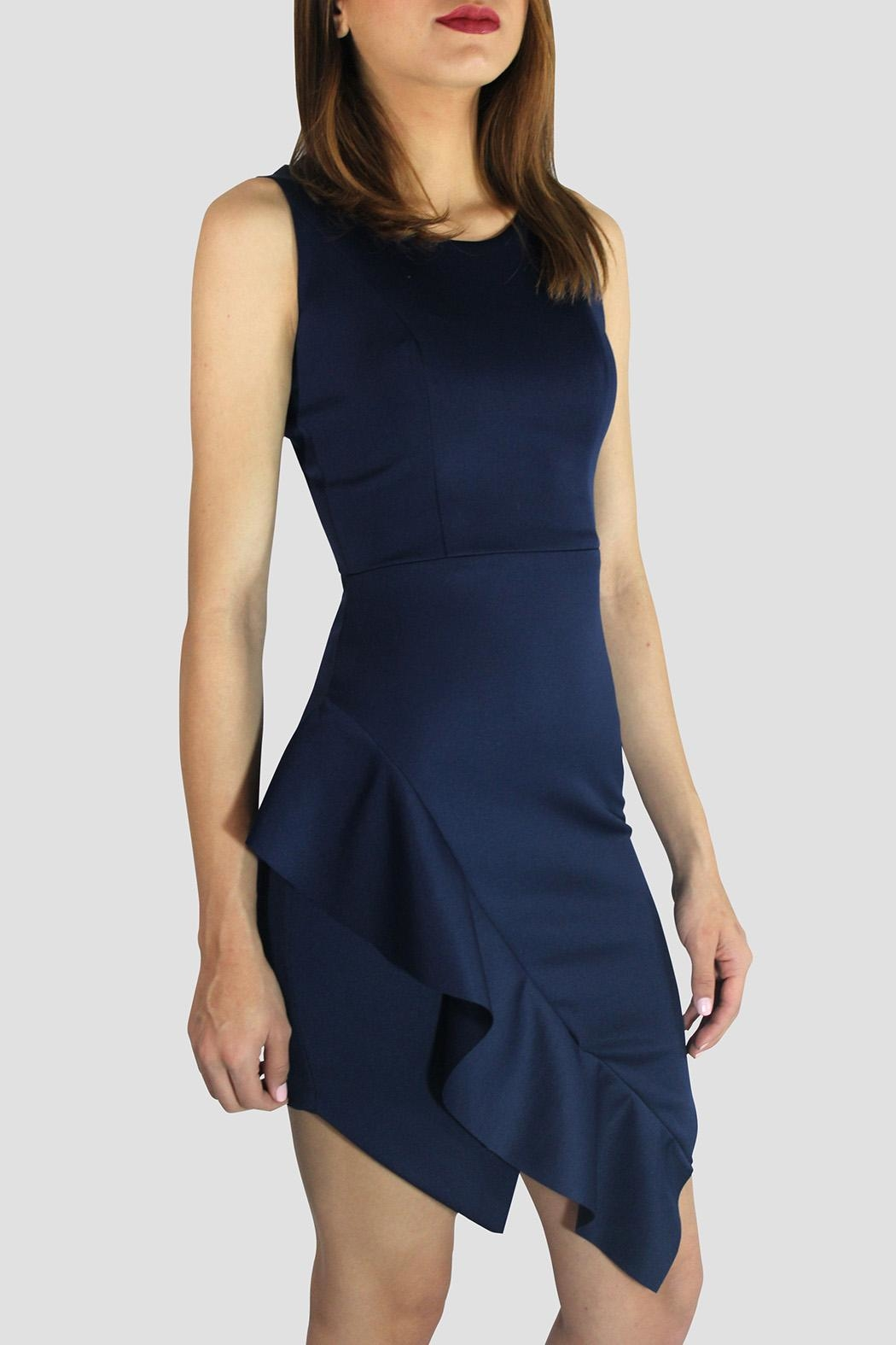 SoZu Asymmetric End Dress - Front Full Image
