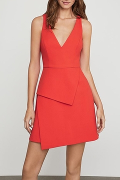 BCBG Max Azria Asymmetric Hem V-Neck Dress - Product List Image