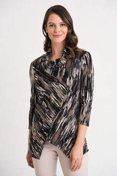 Joseph Ribkoff  Asymmetric Printed Top - Product List Image