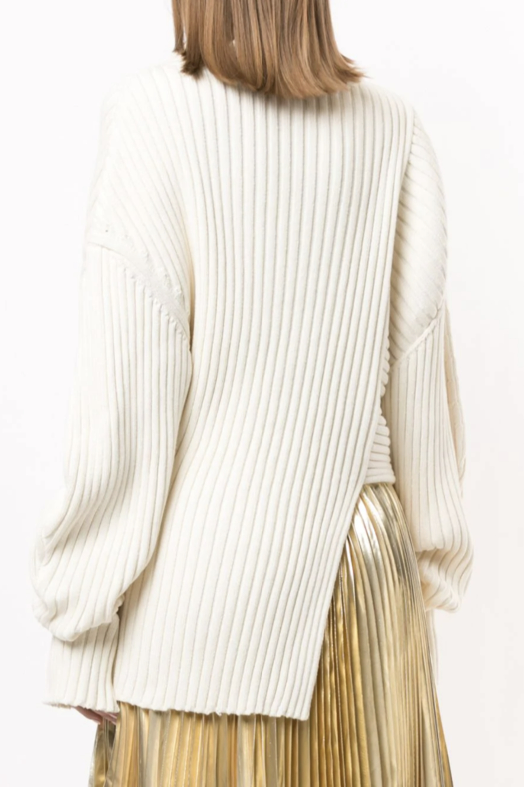 Proenza Schouler Asymmetric Ribbed Jumper - Side Cropped Image