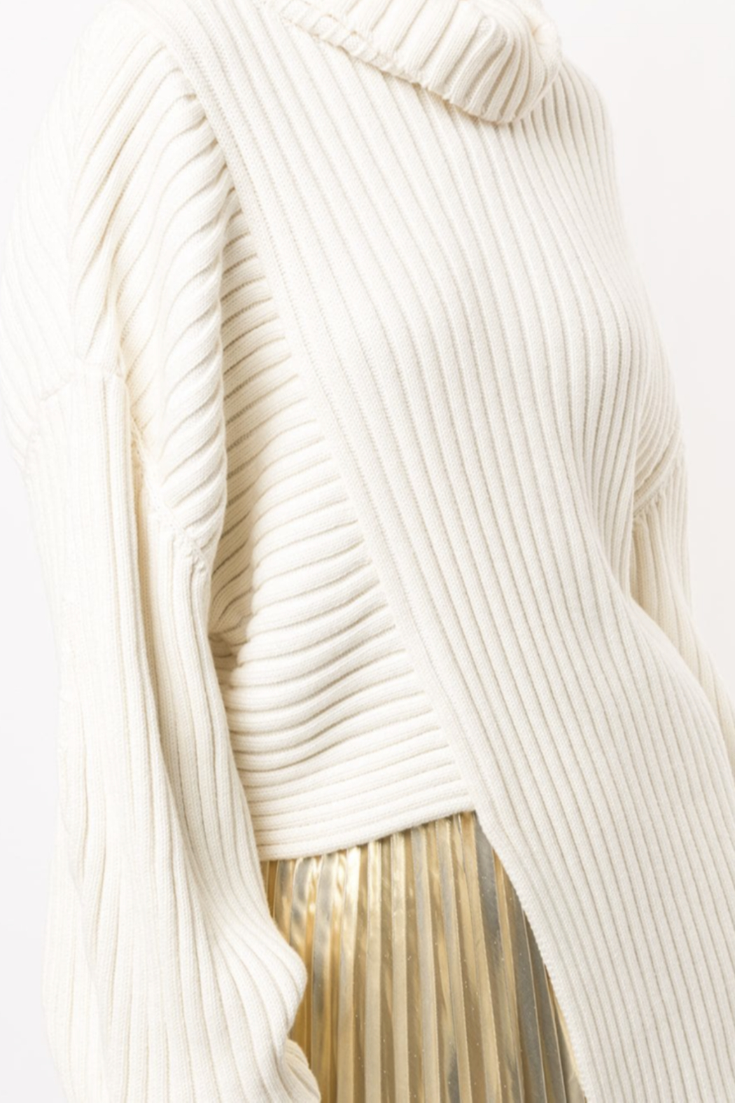 Proenza Schouler Asymmetric Ribbed Jumper - Back Cropped Image