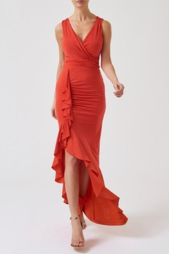Forever Unique Asymmetric Ruffle Maxi - Product List Image