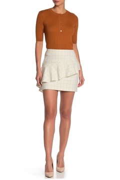 Joie Asymmetric Ruffle Side Zip Lined Mini Skirt - Product List Image