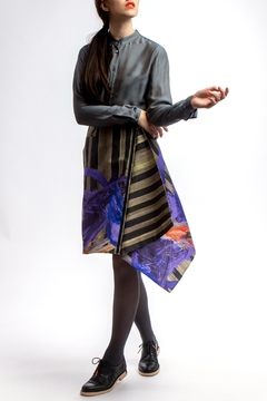 Clara Kaesdorf Asymmetric Skirt Dark - Alternate List Image