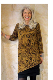 Magic Scarf Asymmetric Slinky Leopard Tunic - Front cropped