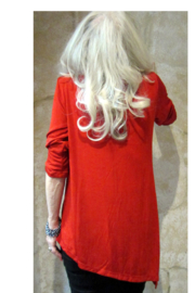 Magic Scarf Asymmetric Slinky Red Tunic - Product Mini Image