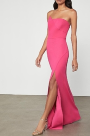 BCBG MAXAZRIA Asymmetric Strapless Gown with Slit - Product Mini Image