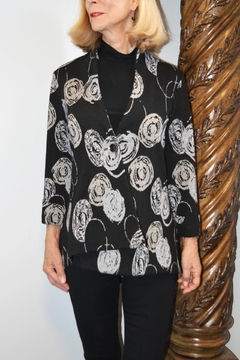 Pure Essence Asymmetrical Abstract Jacket - Product List Image