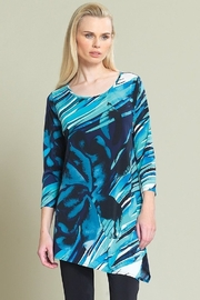 Clara asymmetrical blue abstract top - Product Mini Image