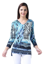 Parsley & Sage Asymmetrical Button-Back Tunic - Product Mini Image