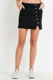 Pretty Little Things Asymmetrical Button Skirt - Product Mini Image