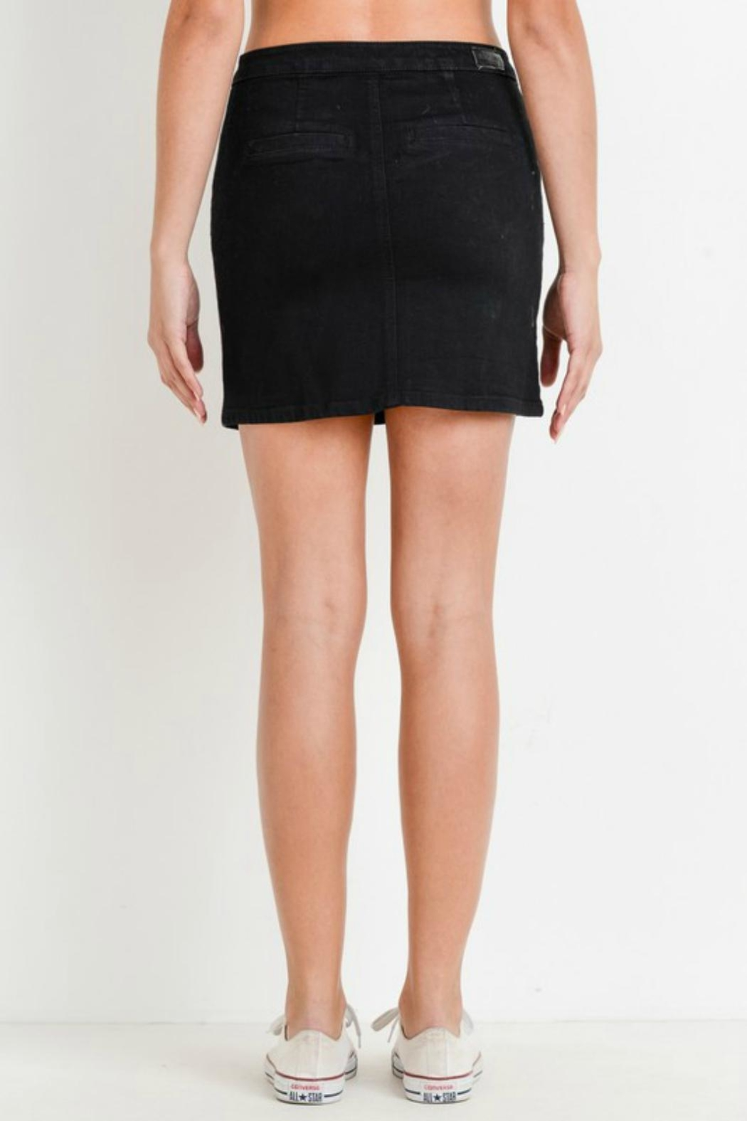 Pretty Little Things Asymmetrical Button Skirt - Front Full Image