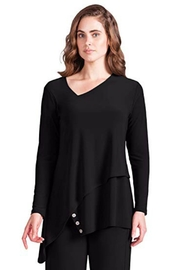 Sympli Asymmetrical Button Tunic - Product Mini Image