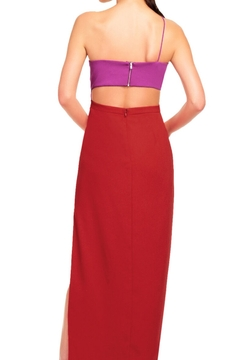 Aidan Mattox Asymmetrical Color Block Cutout Gown - Alternate List Image