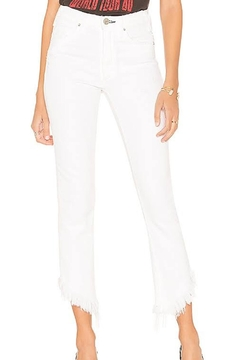 Shoptiques Product: Asymmetrical Cropped Jeans