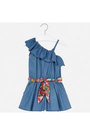 Mayoral Asymmetrical Denim Romper - Front full body