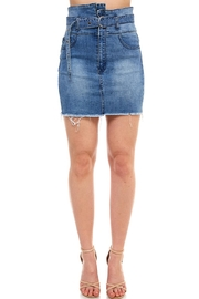 Uniq Asymmetrical Denim Skirt - Product Mini Image