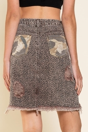 Pol Clothing Asymmetrical Distressed  Animal - Back cropped