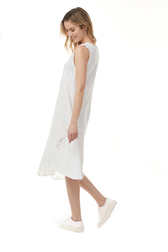 Charlie B.  Asymmetrical Dress with Lace insert - Alternate List Image