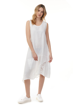Charlie B.  Asymmetrical Dress with Lace insert - Product List Image