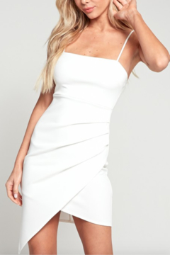 blue blush Asymmetrical Fitted Dress - Product List Image