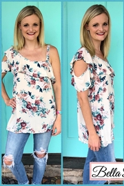 143 Story Asymmetrical Floral Top - Product Mini Image