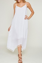 L Love Asymmetrical Hemline Tassel-Dress - Product Mini Image