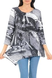 Cubism Asymmetrical Knit Tunic - Product Mini Image