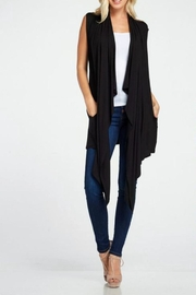 Simply Chic Asymmetrical Knit Vest - Product Mini Image
