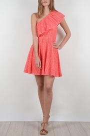 Molly Bracken Asymmetrical Lace Dress - Product Mini Image