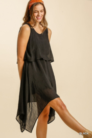 Umgee  Asymmetrical Layered Dress - Front cropped