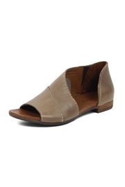 Bueno Shoes Asymmetrical Leather Sandal - Front cropped