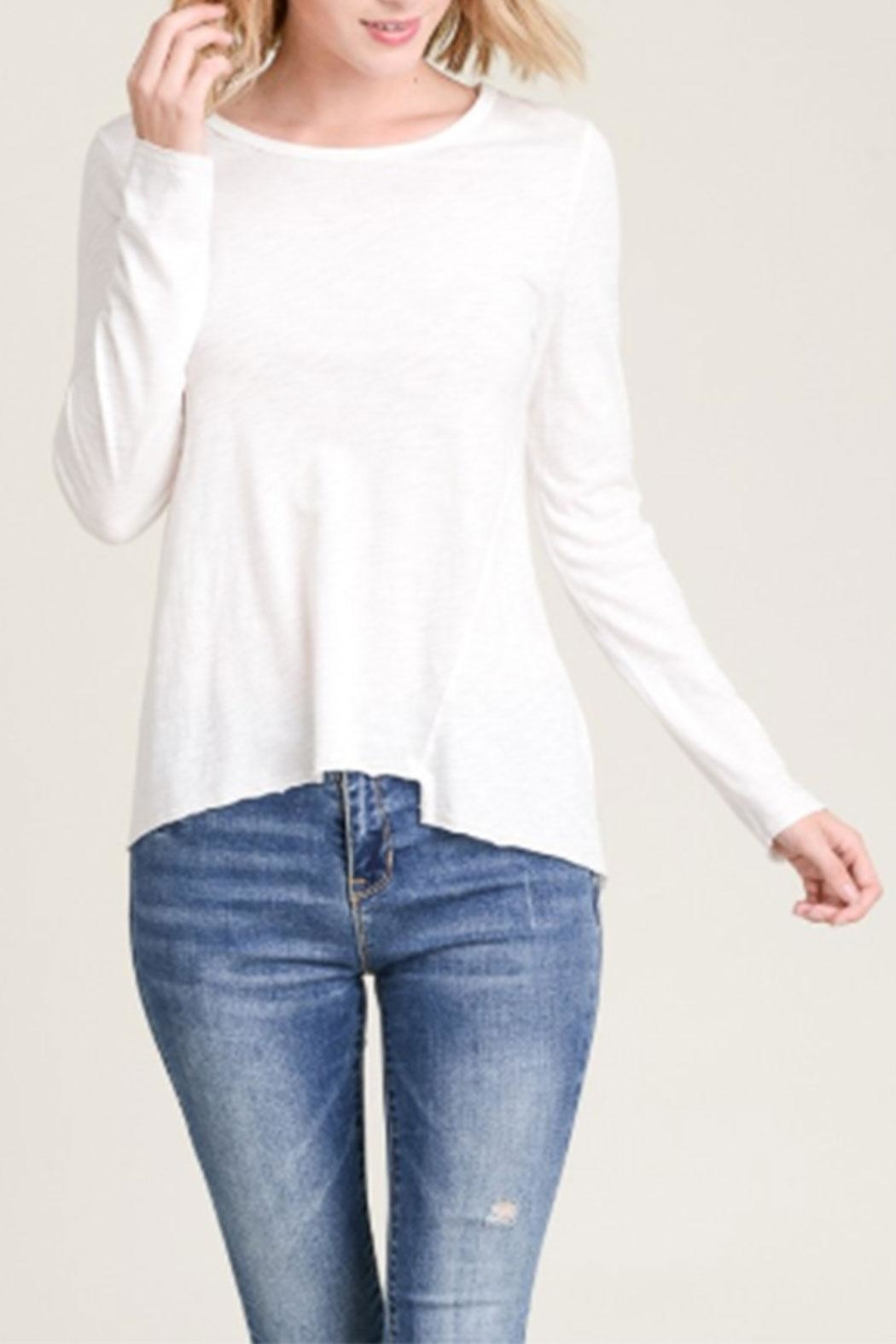 Wasabi + Mint Asymmetrical Long-Sleeve Top - Front Cropped Image
