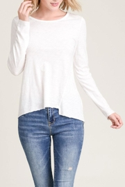 Wasabi + Mint Asymmetrical Long-Sleeve Top - Front cropped