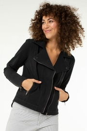 Liverpool Jean Company Asymmetrical Moto Jacket - Front cropped