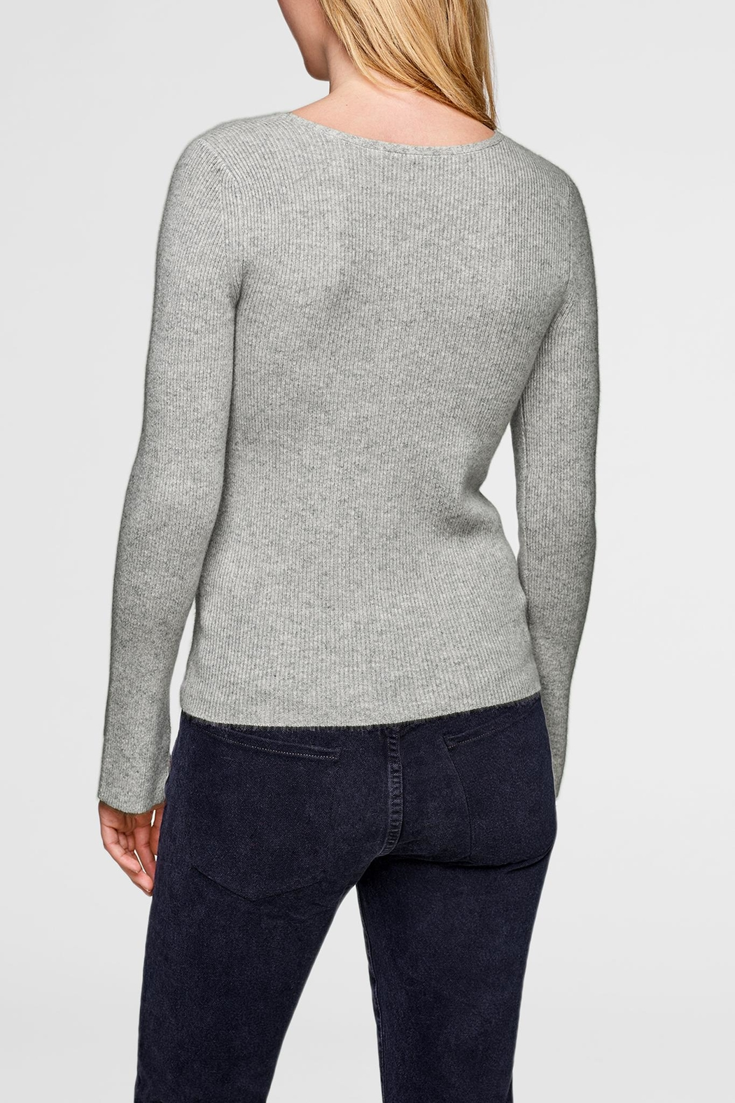 White + Warren Asymmetrical Neck Pullover - Front Full Image