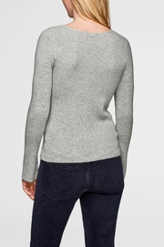 White + Warren Asymmetrical Neck Pullover - Front full body