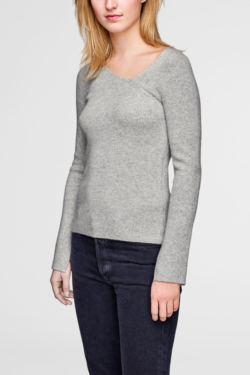 White + Warren Asymmetrical Neck Pullover - Main Image