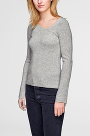 White + Warren Asymmetrical Neck Pullover - Front cropped