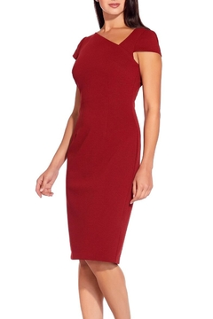 Adrianna Papell Asymmetrical Ottoman Sheath Dress - Product List Image