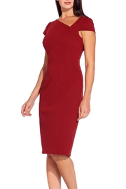 Adrianna Papell Asymmetrical Ottoman Sheath Dress - Product Mini Image