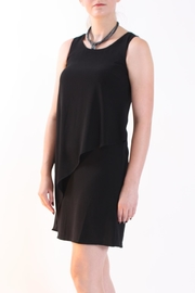 Talk of the Walk Asymmetrical Overlay Dress - Front cropped