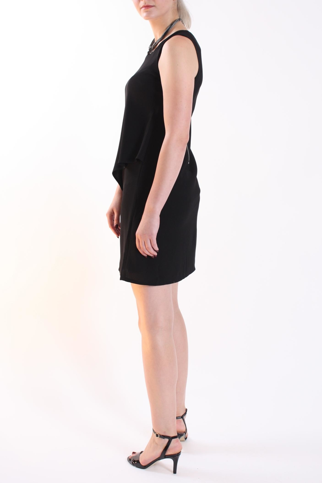 Talk of the Walk Asymmetrical Overlay Dress - Side Cropped Image