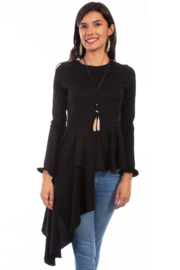 Scully Asymmetrical Peplum Top - Product Mini Image